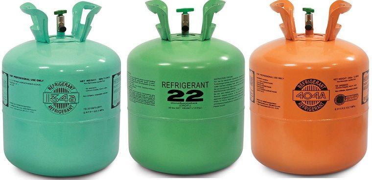 Các loại gas dùng trên tủ lạnh